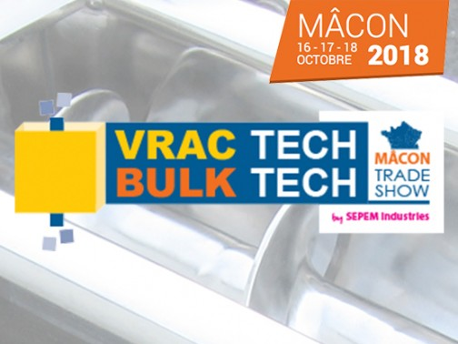 Salon VRAC TECH Mâcon, 16-17-18 octobre 2018